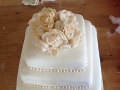 Rose display wedding cake topper